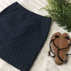 Loft NWT Tweed Style Polka Dot Mini Skirt